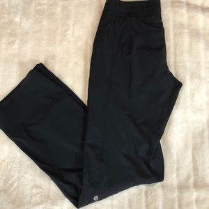 Lululemon Lined Black Joggers Pants Sz 6